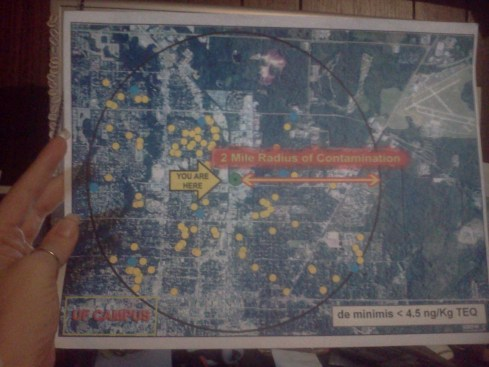2 Mile test are from Koppers Superfund site Gainesville, Florida